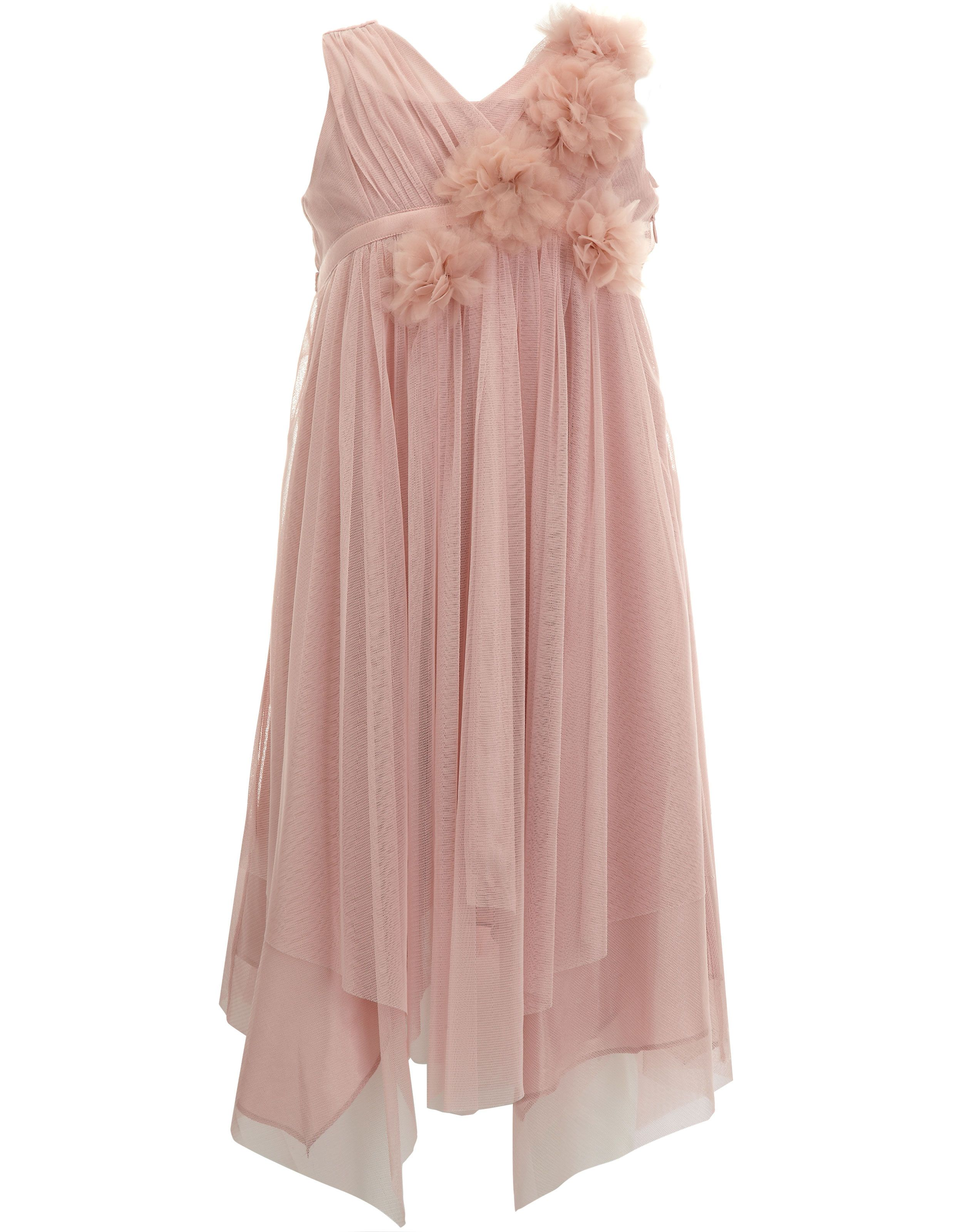 Dusky Pink Dress With Corsage Flower Detail Art Deco Wedding