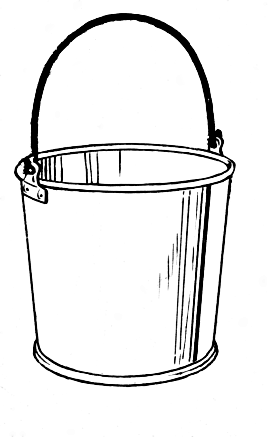 Pin Clip Art Of A Bucket Or Pail On Pinterest Bucket Drawing Bucket Paint Buckets
