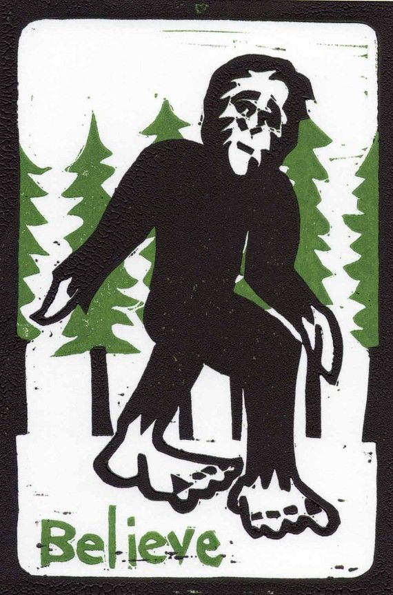 Bigfoot Postcard.