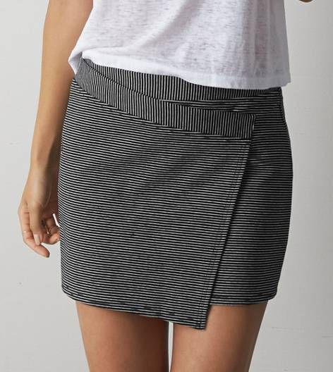 fdd6c3227d Black AEO Striped Wrap Mini Skirt | GET IN MY CLOSET! | Mini skirts ...