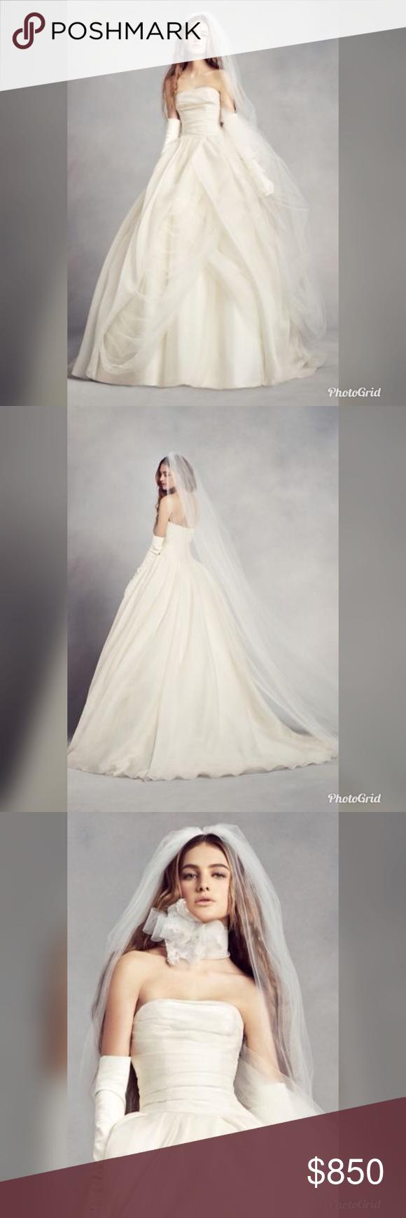 Vera Wang White Vw351178 Wedding Dress Organza White By Vera Wang Organza Wedding Dress