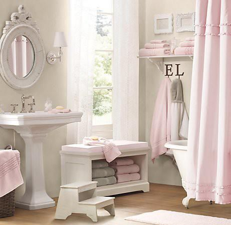 pale pink shower curtain. Like The Colors  Pale Pink Grey And White Maybe A Printed Shower Curtain