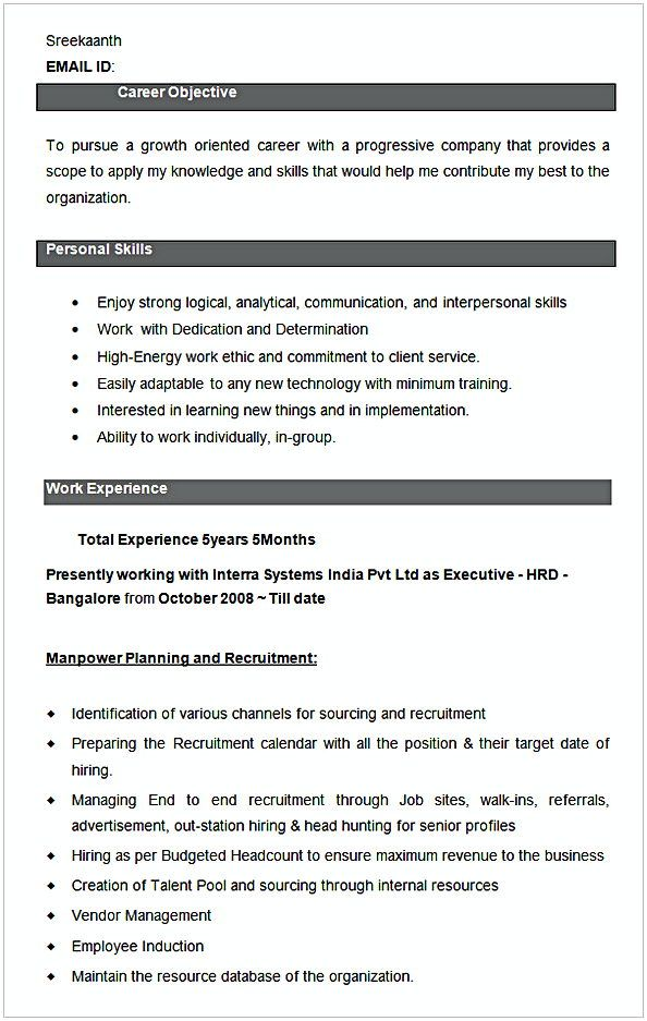 Executive HRD Resume Sample , HR Manager Resume Sample , This HR ...
