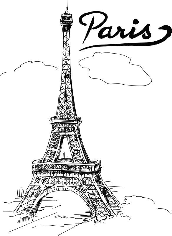 Resultado de imagen para la torre eiffel para colorear | Dibujo ...