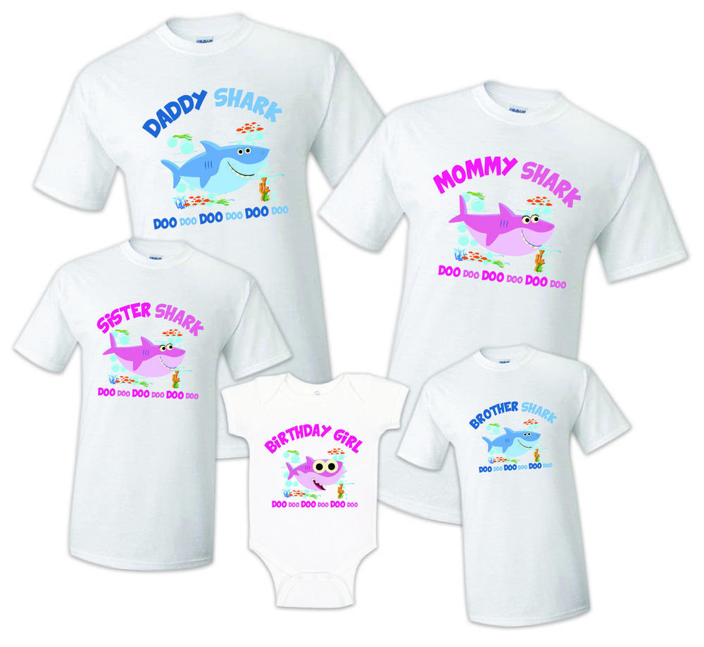 Details about Baby Shark T shirt Family Birthday Matching ...
