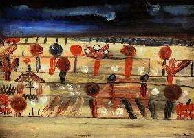 Paul Klee - Garten in der Ebene II (mit dem