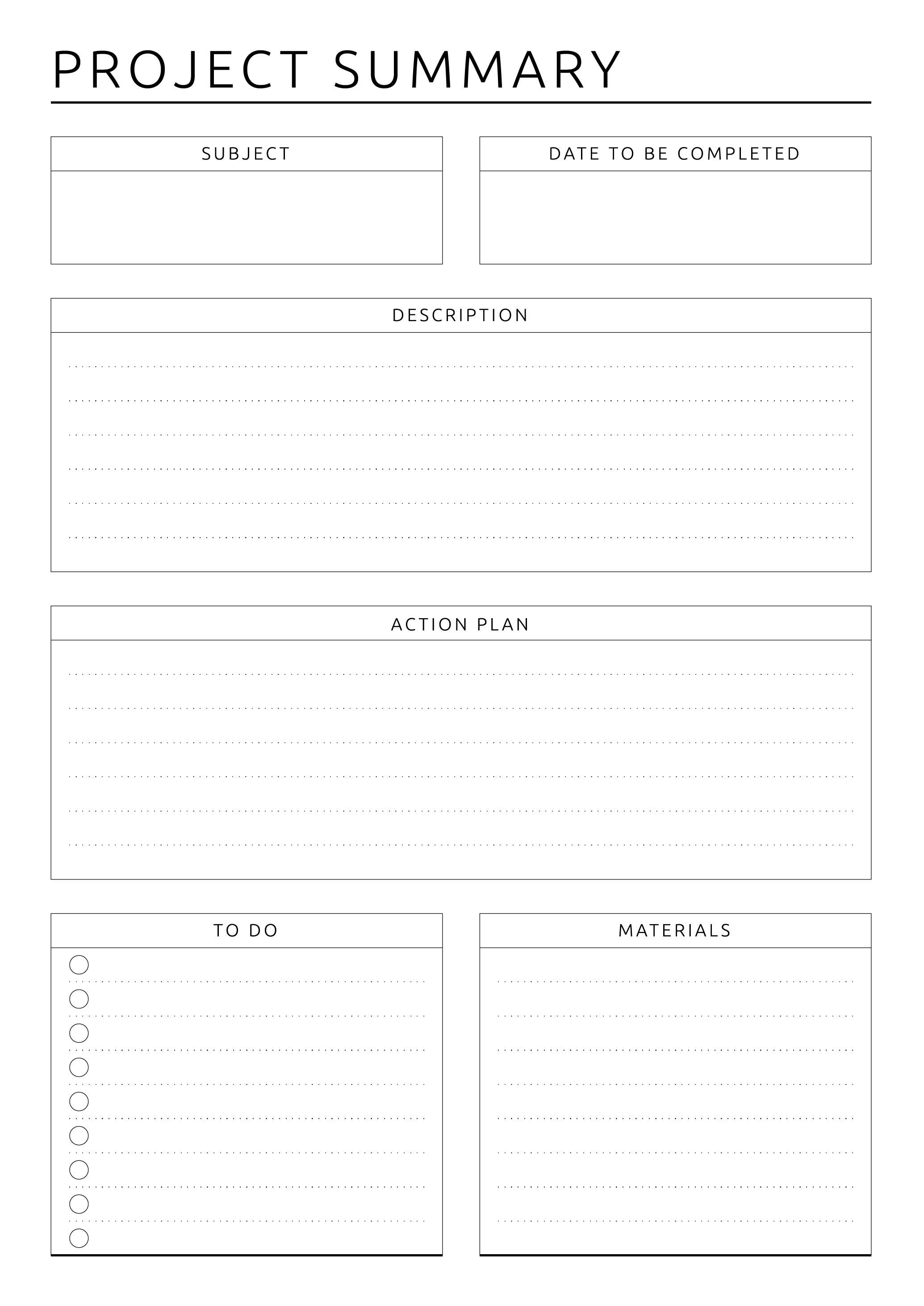 Printable Project Planning Business Style PDF Download