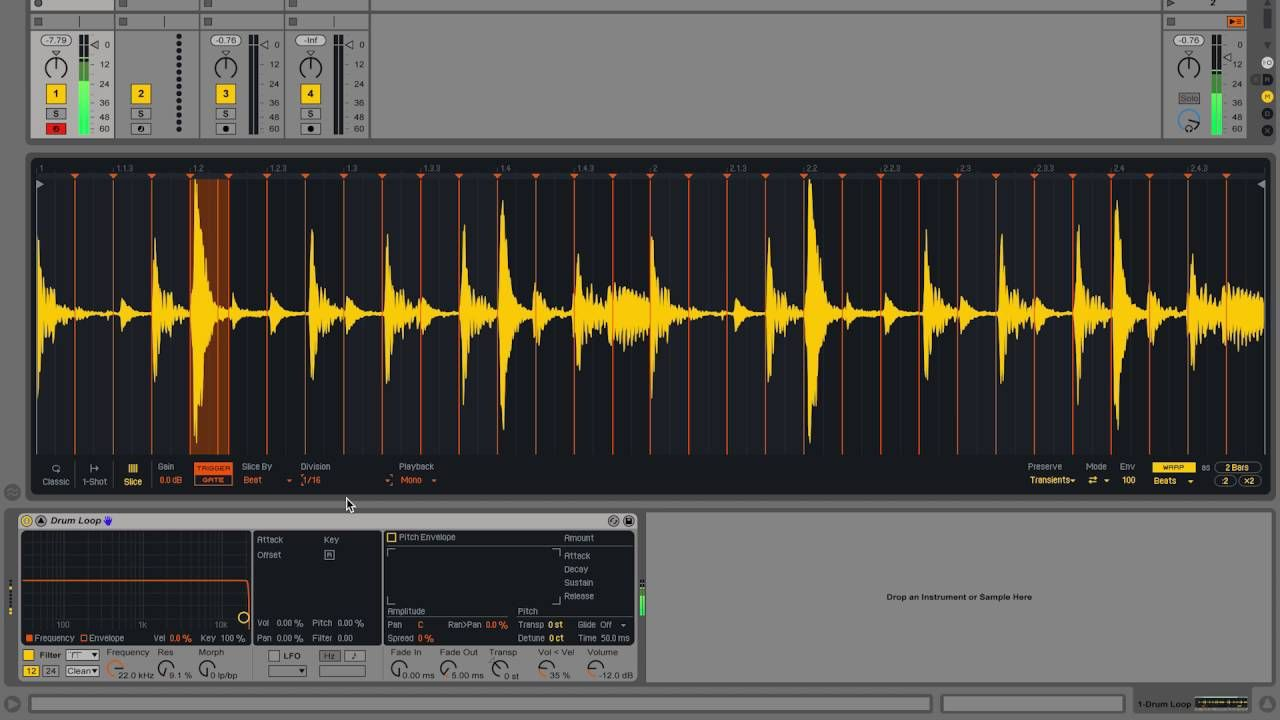 Ableton sampling tutorial in simpler slicing samples in