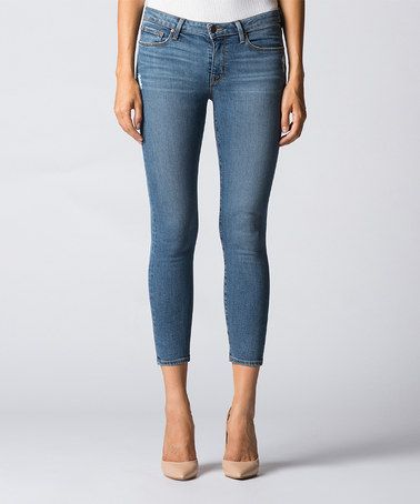 Another great find on #zulily! Blue Mid-Rise Crop Skinny Jeans by DSTLD #zulilyfinds