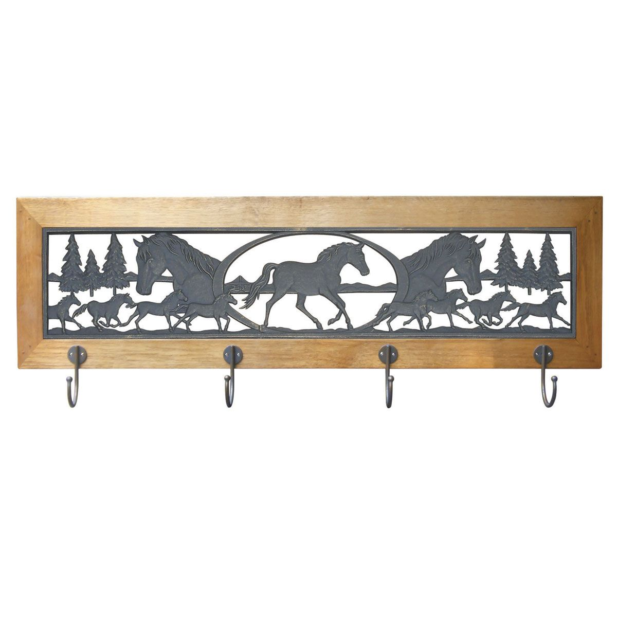 Horse coat rack for our mustang garage garageshed ideas