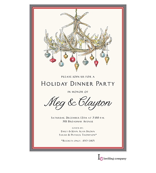 Festive Antlers Invitation so cute for a holiday engagement – Holiday Engagement Party Invitations