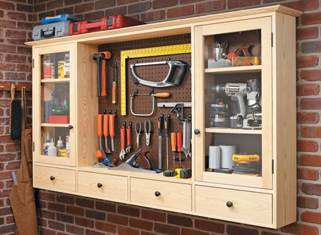 Pegboard Tool Cabinet Woodsmith Plans Workshop Storage