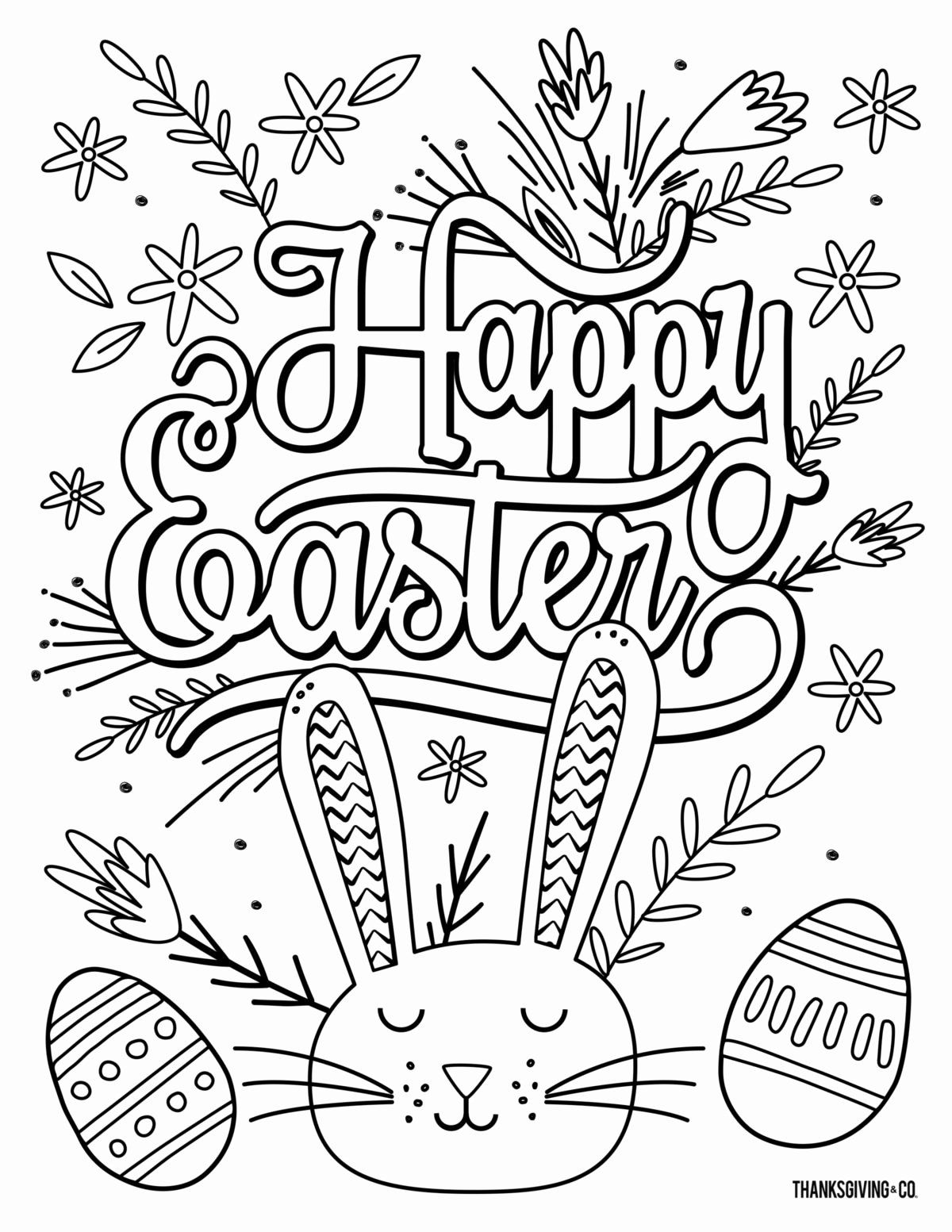 Easter Coloring Book Pages Awesome Coloring Book Ideas 44 Easter Coloring Pages For Adults