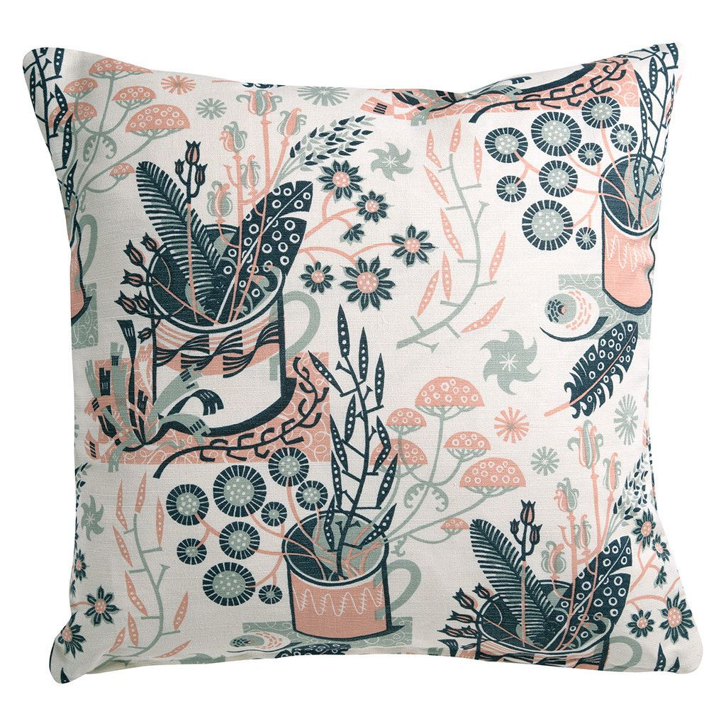 Nature table cushion covers angie lewin print u pattern