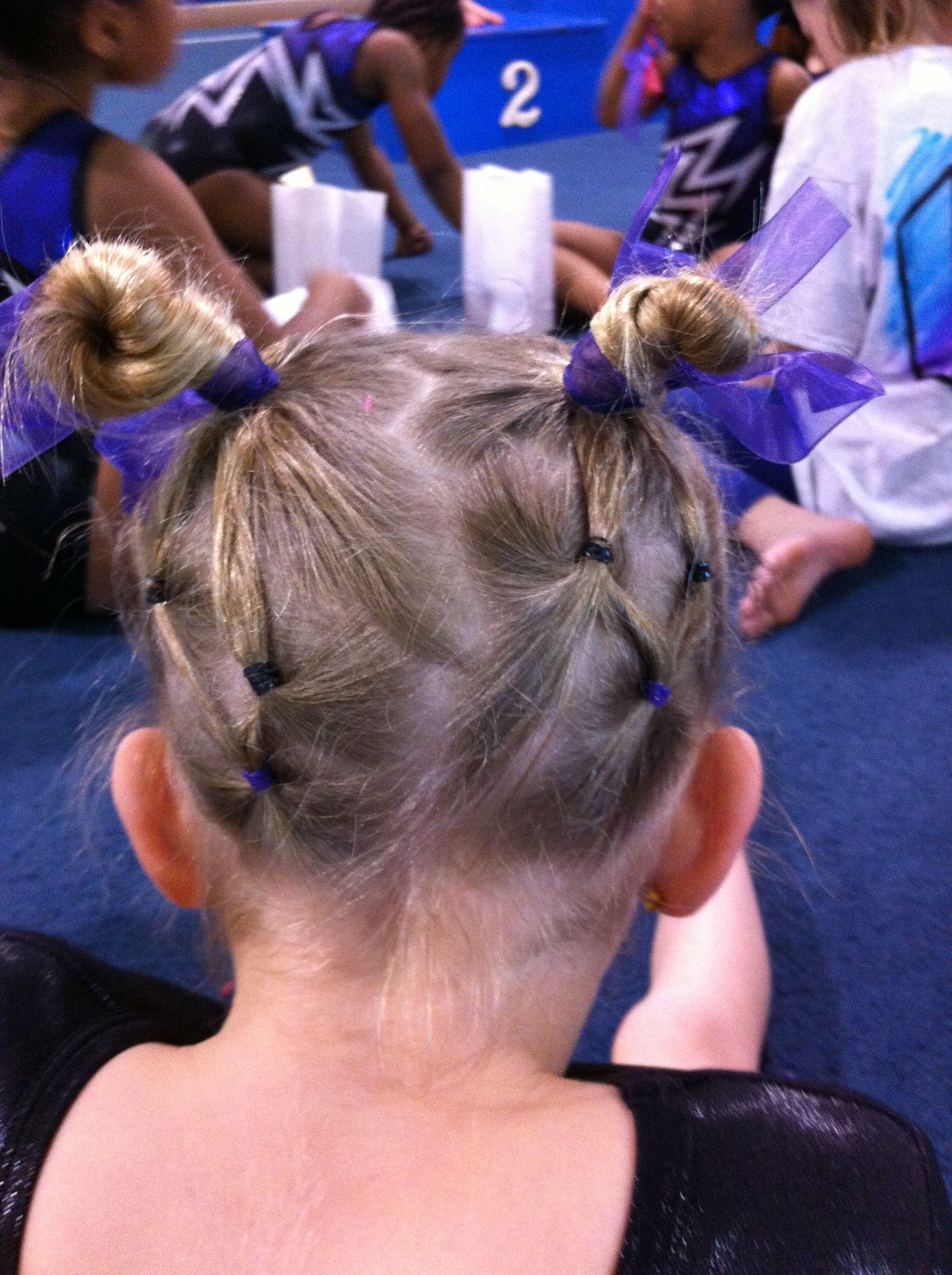 Gymnastics hair | Gymnastics hair, Gym hairstyles ...