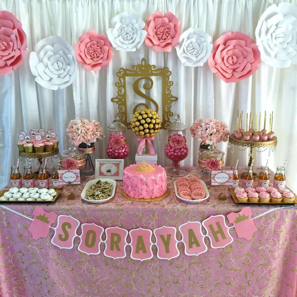 pink and gold baby shower baby shower party ideas | babies