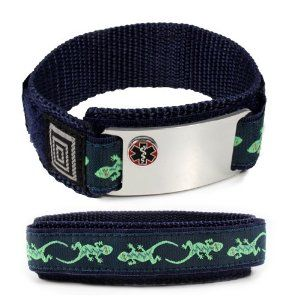 """PENICILLIN ALLERGY Sport Medical ID Alert Bracelet with Lizard Velcro wrist band. by IdTagsonline. $29.99. Medical Condition: PENICILLIN ALLERGY and SEE WALLET CARD are engraved on the front of the plate. If you have any special needs or cannot find your medical condition, please, send us a message.. Traditional """"deep grove"""" engraving using """"Arial"""" font is easy to read and will provide protection for years to come.. The Medical Id Plate 1-5/8"""" x 7/8"""" is made from non-allergic..."""