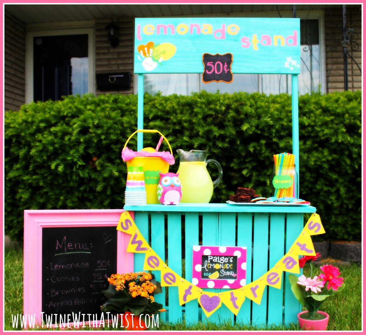 diy lemonade stand lemonade stand kids lemonade stands. Black Bedroom Furniture Sets. Home Design Ideas