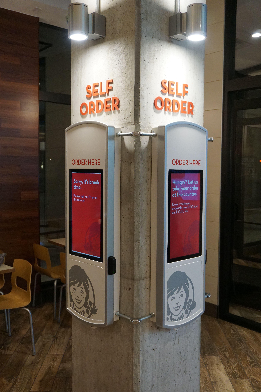 Wendy's SelfService Ordering Kiosk by ZIVELO Kiosk