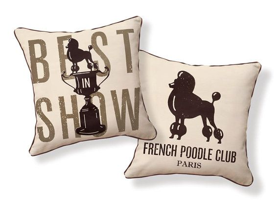 {Pillows for a poodle home}