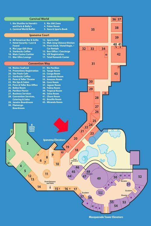 Rio Las Vegas Map Pin on Las Vegas