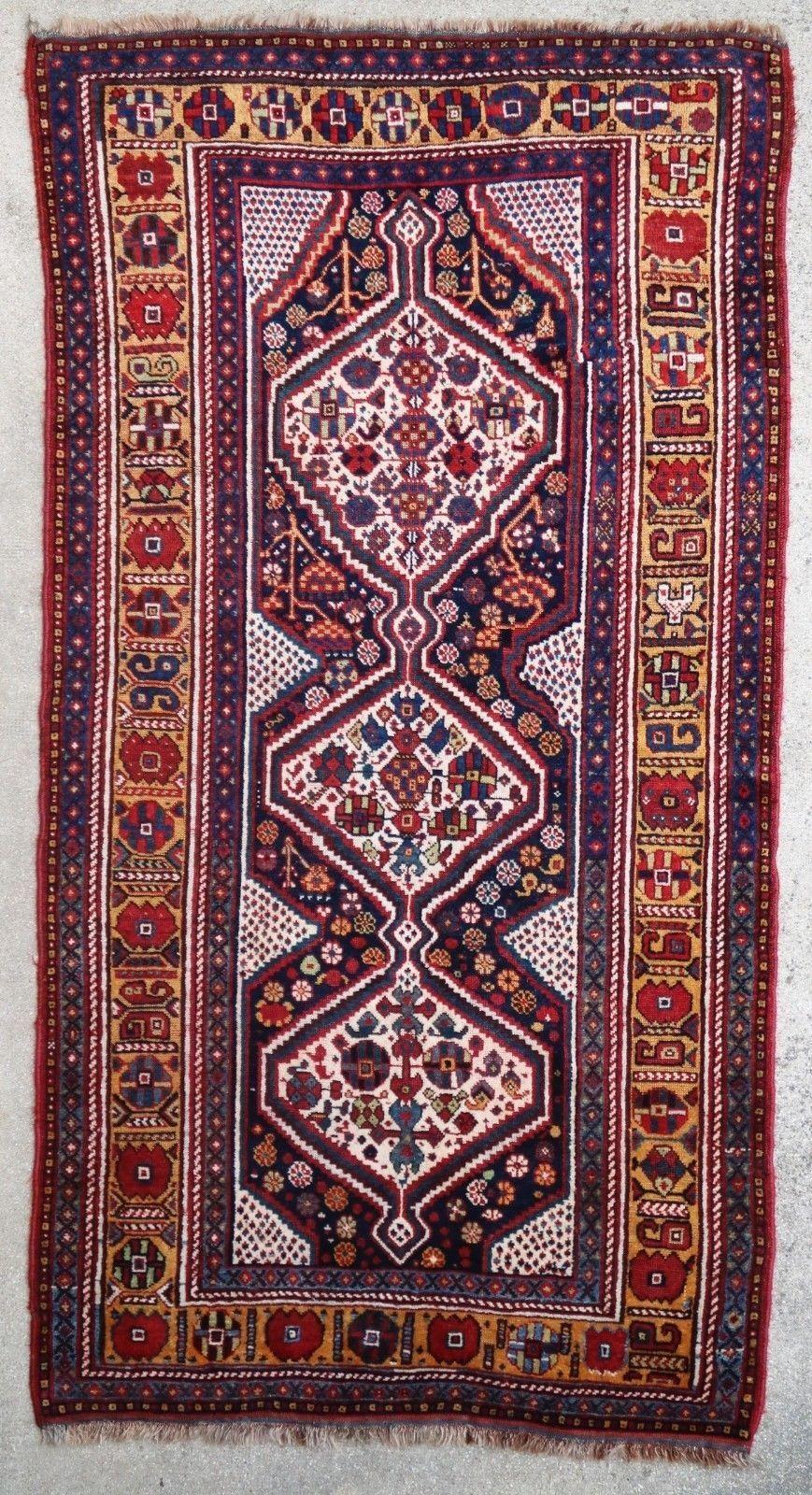 Antique Persian rug Ghashghai 1900 by Christian Doux