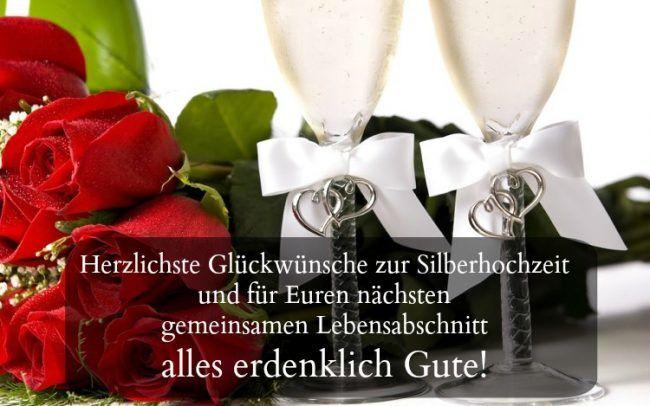 Sprüche Silberhochzeit Glückwünsche Blumen Champagner