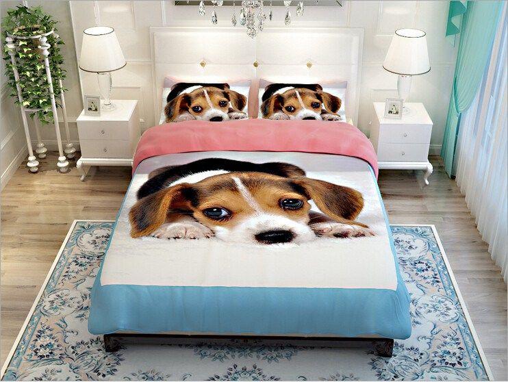 beautiful Paw Print Comforter Set Part - 16: MeMoreCool Creative Design Super Cute Pet Dog Bedding Set Labrador Printing  Duvet Cover Boys and Girls Bed Set Fade, Shrink Resistant(Flat sheet, Full)