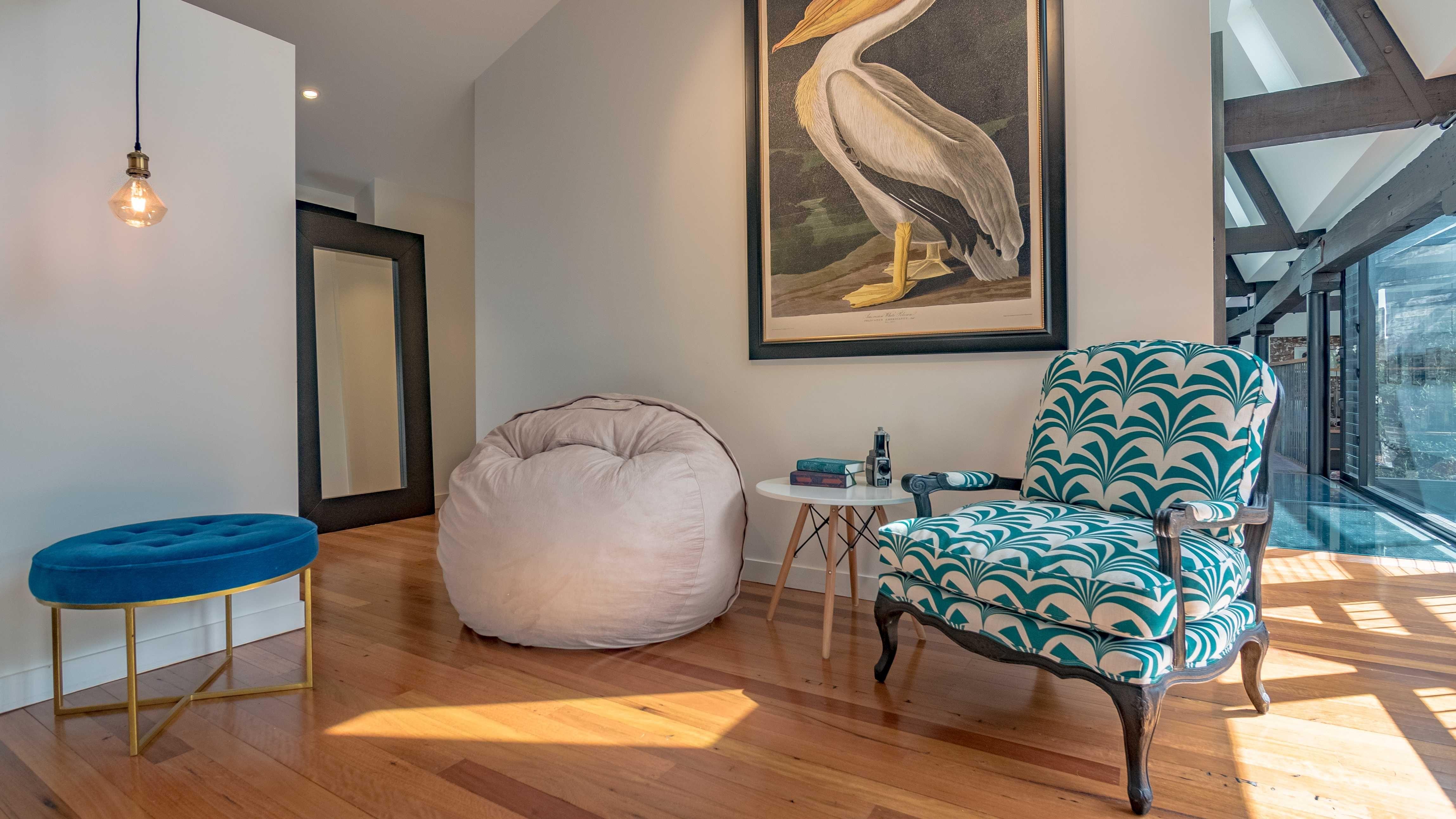Meuse Ivory Bean bag chair, Home decor, Furniture