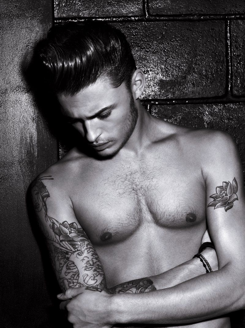 Cool tattoos for white guys harvey haydon for luoreal studio line hair campaign  tattoo