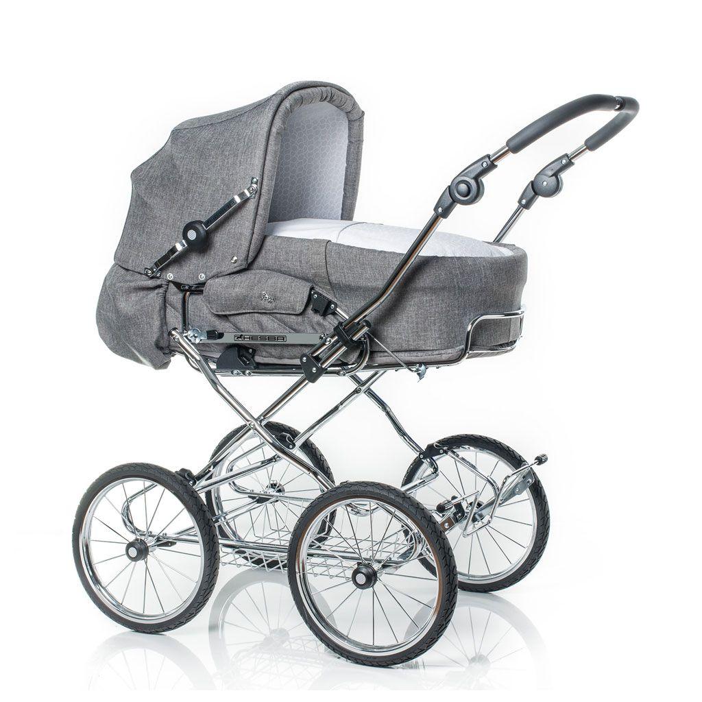 Hesba Corrado Kinderwagen In Grau Mit Grossen Reifen Kinder Wagen Kinderwagen Moderne Kinderwagen