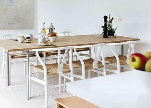Wishbone Chair In White | By The Style Files