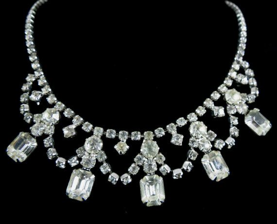 DONATED  -Wiesner Signed Necklace  Glamorous Vintage Silver by MyDellaWear, $34.00