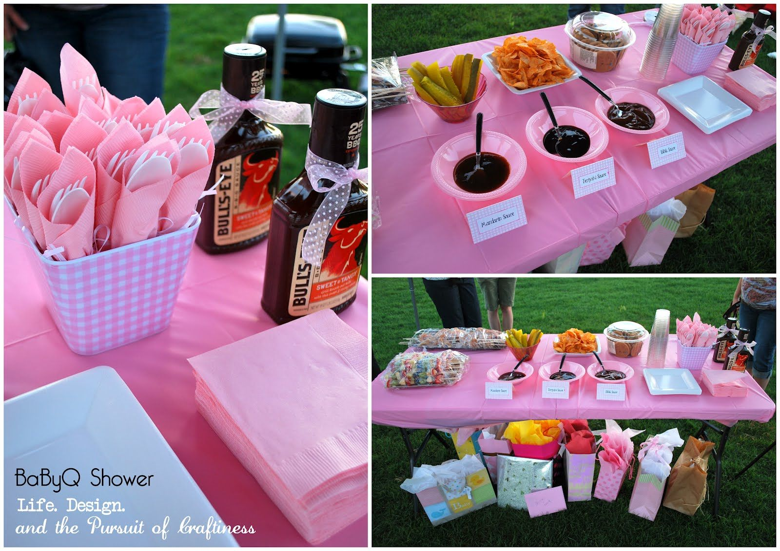 Design. And The Pursuit Of Craftiness: Baby BBQ: Baby Girl Shower