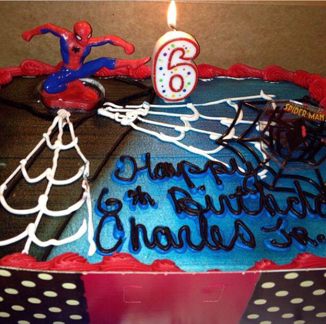 Sons Spider-Man Birthday Cake!!!