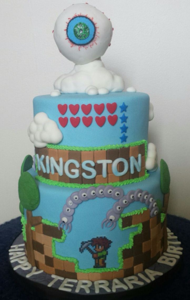 Terraria Birthday Cake Cake Ideas Birthday Party Ideas - 11th birthday cake ideas
