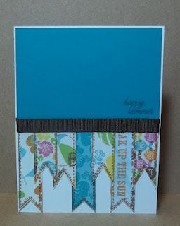 """Pink by Design w """"Everyday Banners"""" stamp set."""