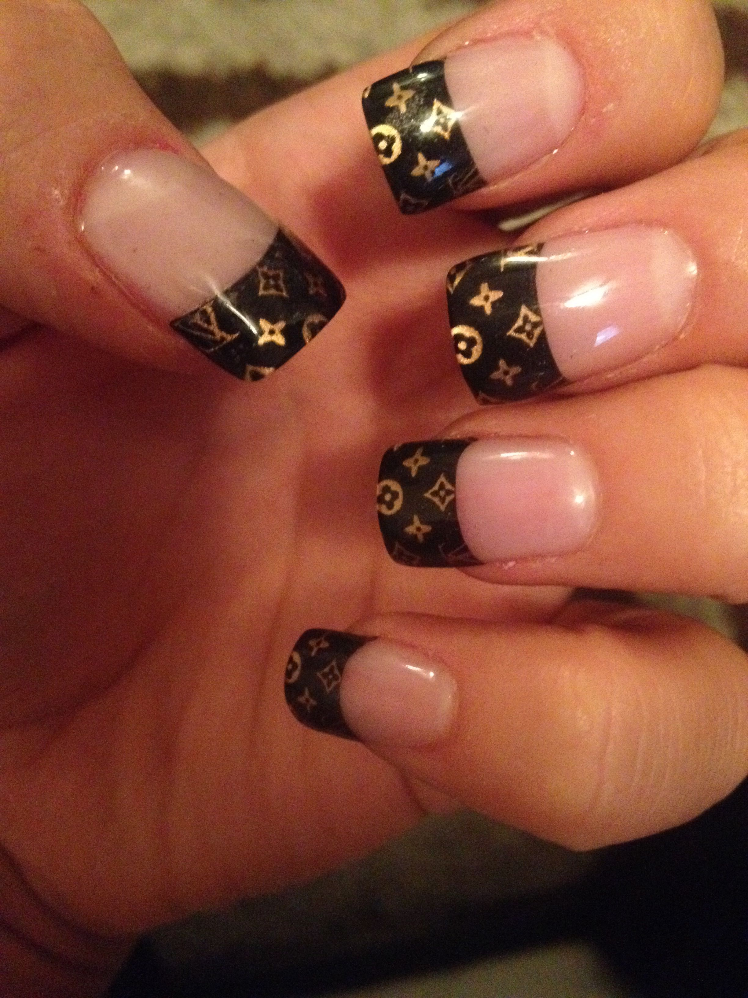 My new Louis Vuitton nails:) | Things to Wear | Pinterest | Louis ...