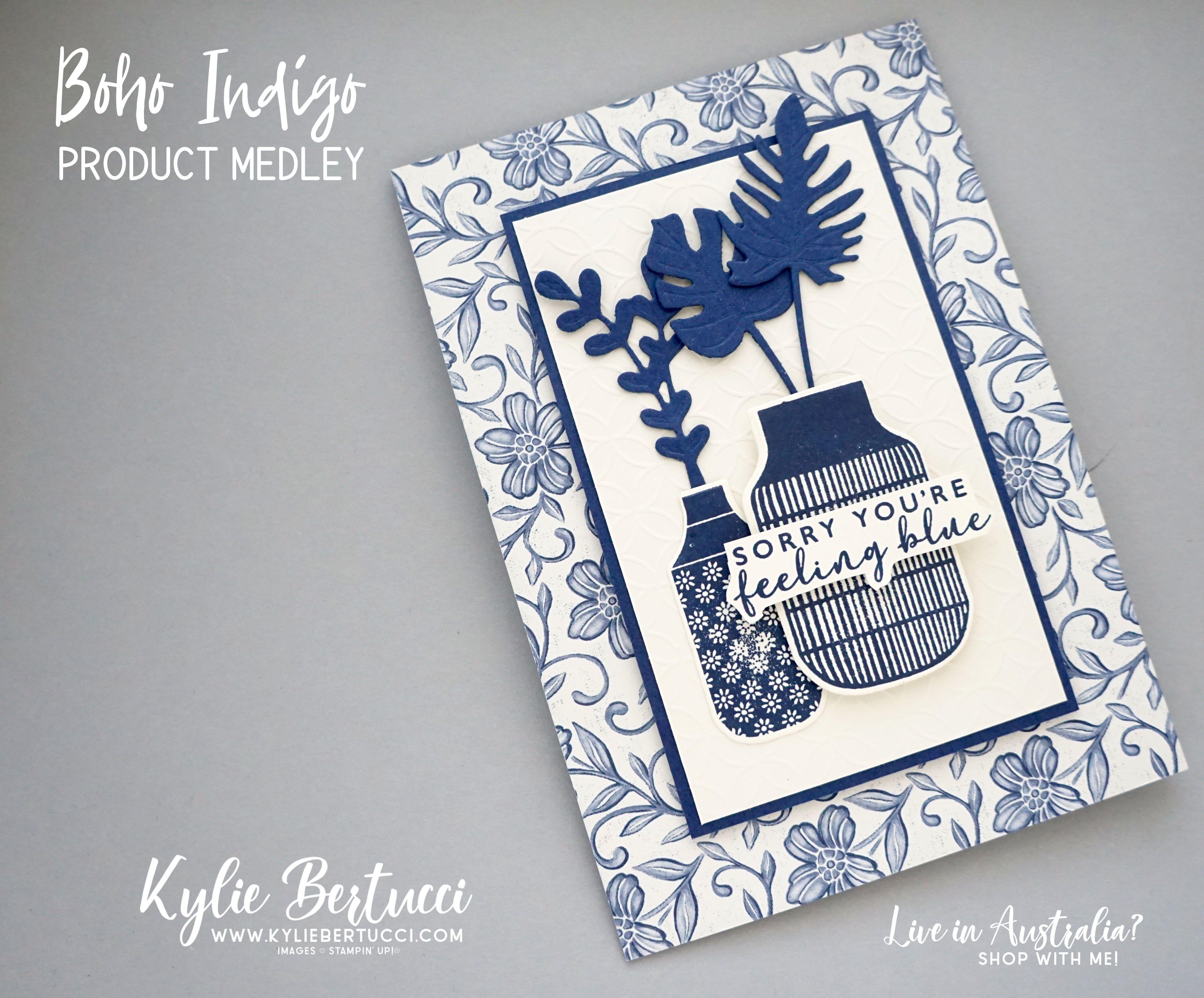 Boho Indigo Product Medley in 2020 Cards handmade, Love