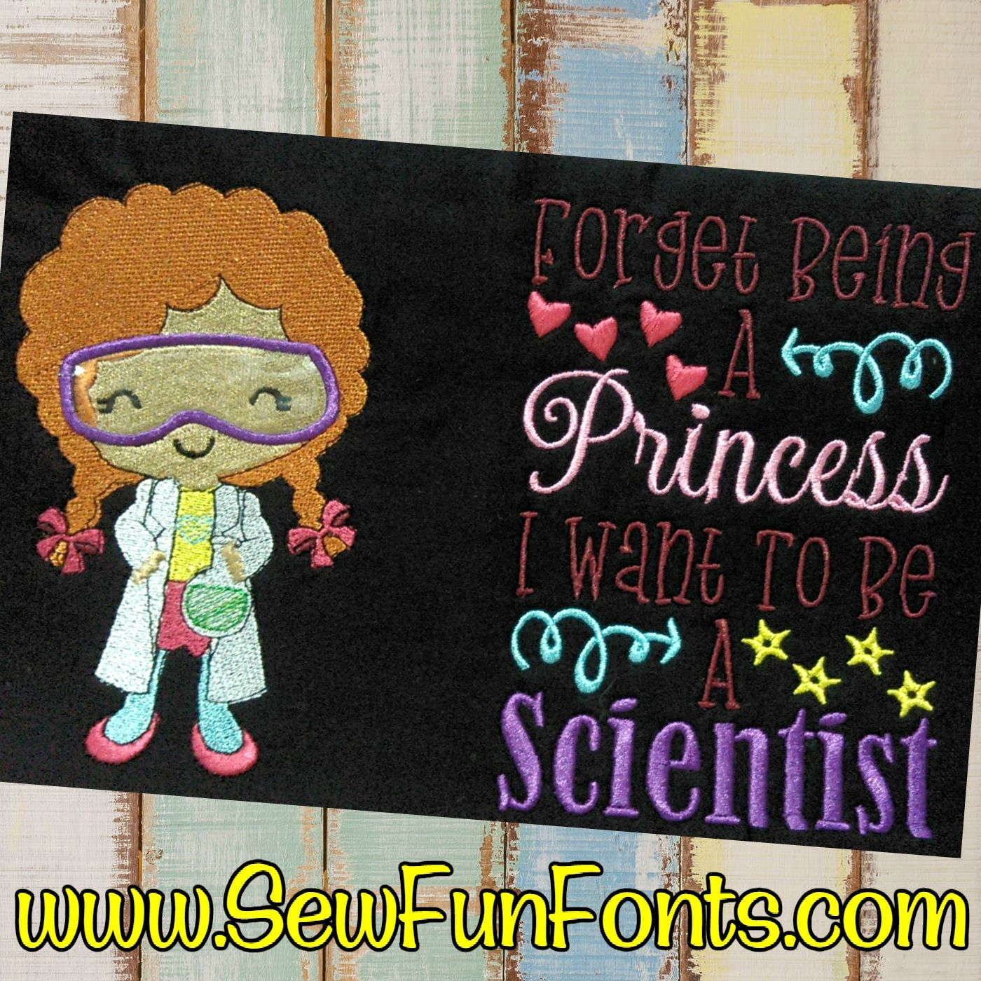 Forget Being A Princess Scientist Girl Design Reading