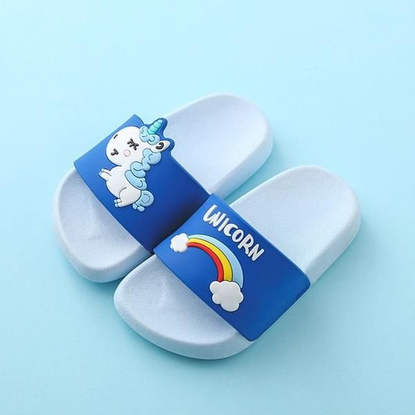 Photo of Rainbow Unicorn Slippers For Kids New Summer Boy Girl Beach Shoes Baby Toddler Soft Indoor Bathroom Slippers Flip Flops
