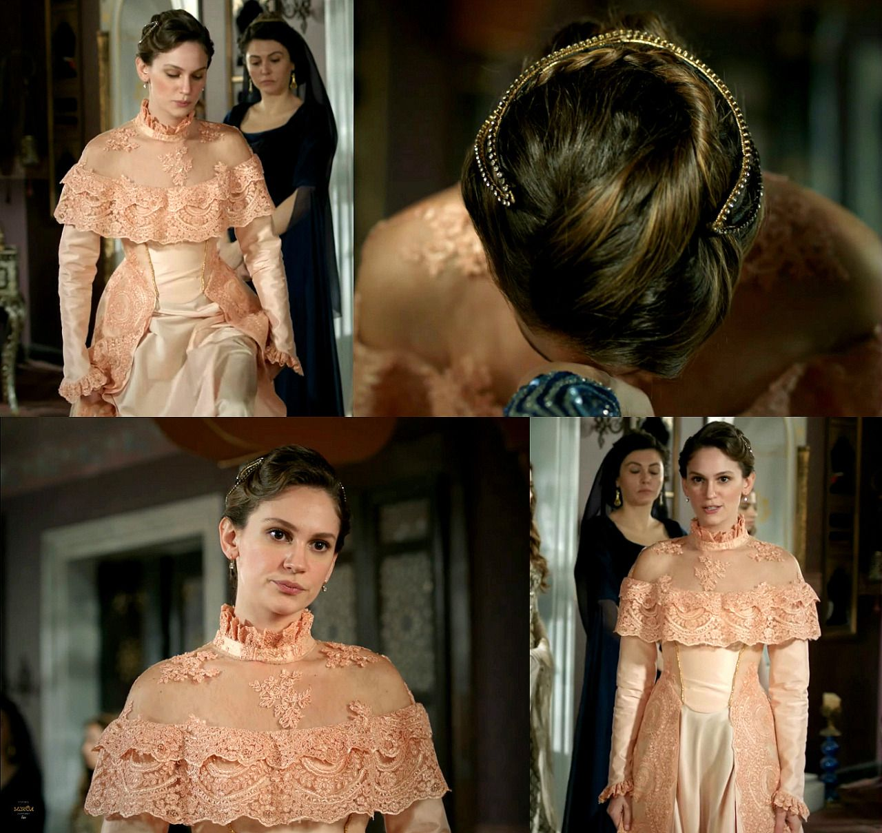 Farya's pink lacy dress, ep. 2x08 -Historically... - Magnificent Wardrobe