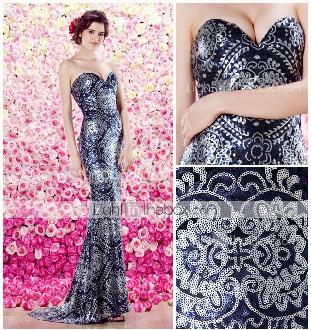 TS Couture® Formal Evening Dress - Sheath/Column Sweetheart Sweep/Brush Train Sequined 3145097 2016 – $197.99
