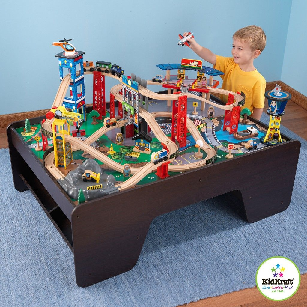costco kidkraft super highway train table drake