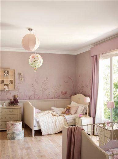 La vida en rosa y blanco dormitorios para ni as kids for Dormitorio nina blanco