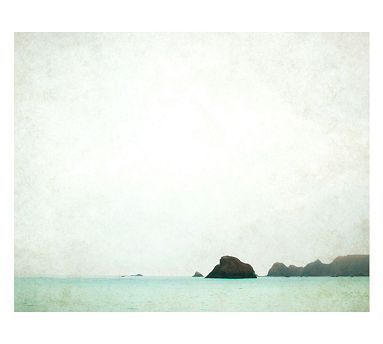 La Mer Framed Print by Lupen Grainne (this would be pretty on a gallery wall. bringing in the mint/seafoam green) @teaandsteam