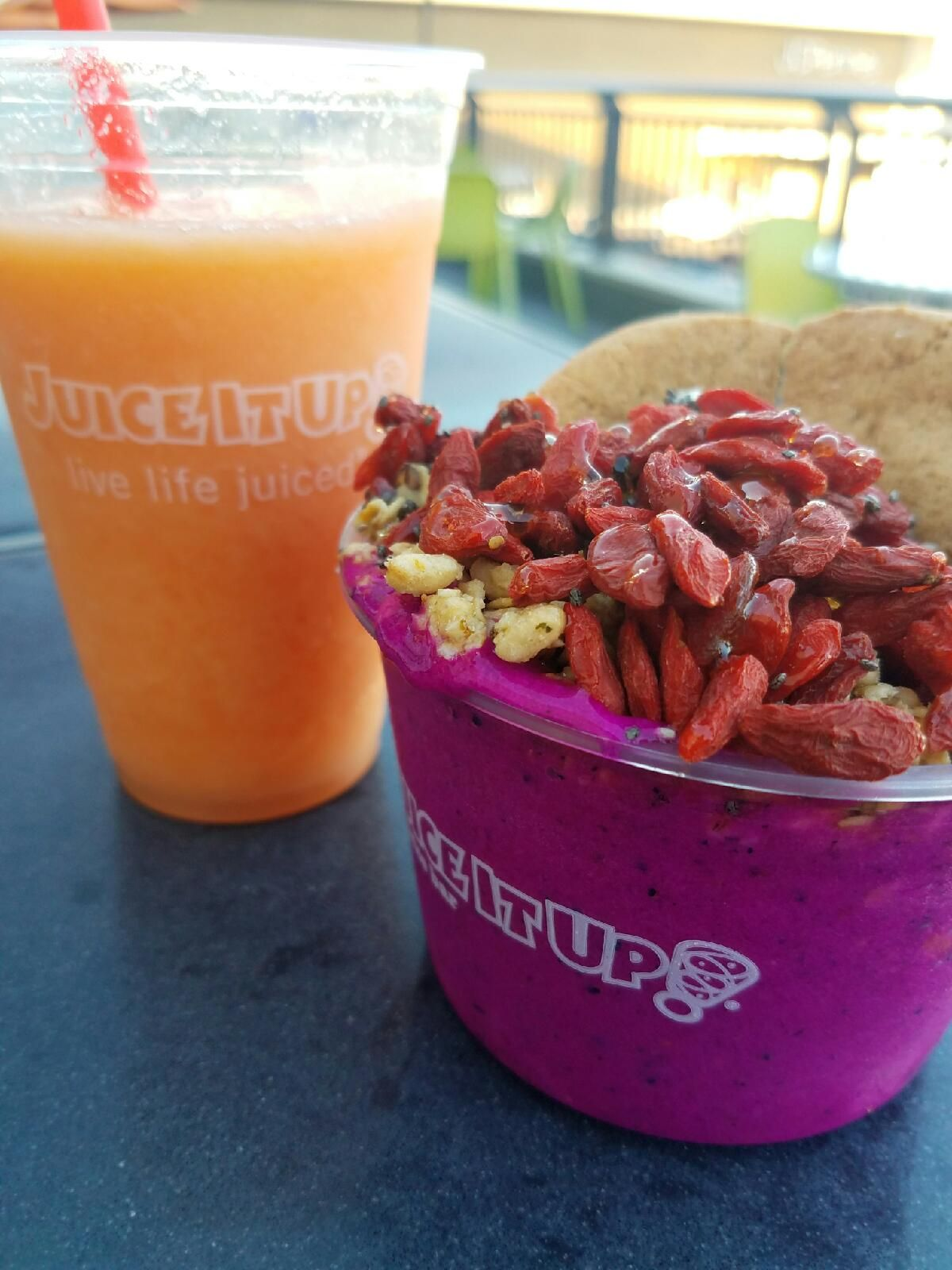 With This Mango Smoothie And Pitaya Bowl From Juice It Up We Make