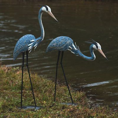 Darby Home Co Glenys 2 Piece Herons Statue Set