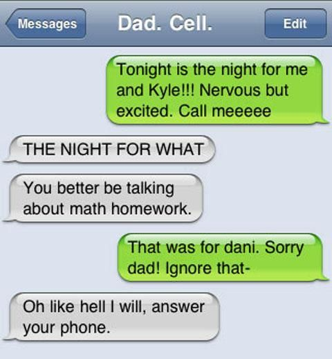 Most Awkward Wrong Number Texts Ever Sent - From Dad Sexts -8024