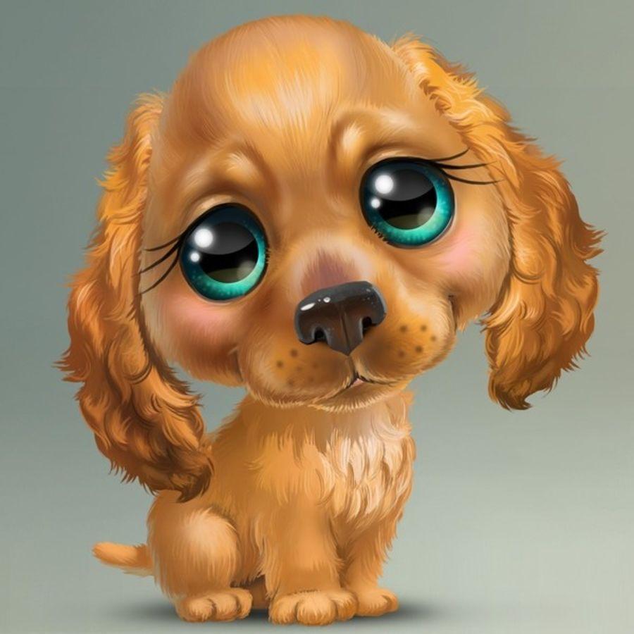 рисунки милые собаки коже